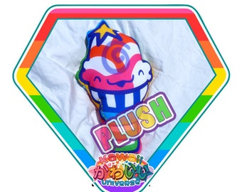 Kawaii Cute Rock Star Ice Cream Doodle Plush