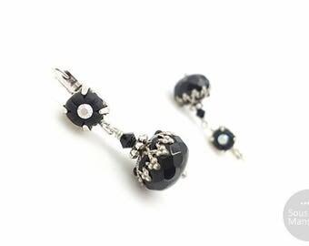 Modeschmuck ohrringe schwarz  Klassische ohrringe | Etsy
