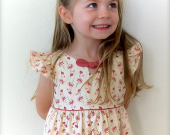 Girls Dress Pattern, Maddie Lou Dress, sizes included to fit ages 2-6, instant digital downoad, photo tutorial included