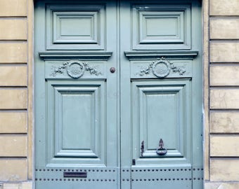 Paris Photography, Blue Doors in Paris Print, French Blue Wall Art, Paris Doors Print, French Wall Art Prints, Paris Wall Art, Paris Streets