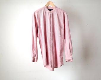 vintage STRIPED oxford normcore oversize GRUNGE men's shirt size medium