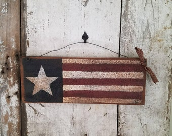 Primitive Flag, Americana, Shelf Sitter, Primitive Country Flag, USA Flag, Primitive Flag, Stars and Stripes, Rustic Flag, Patriotic