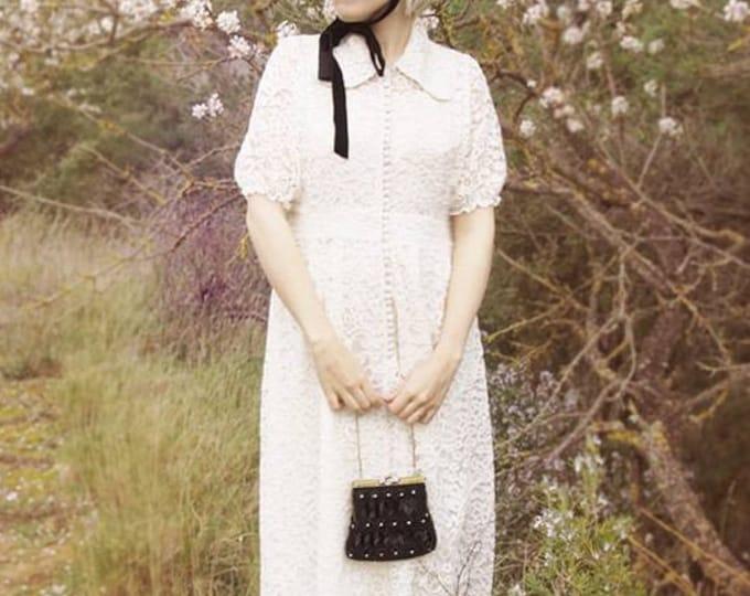 Featured listing image: Custom Regina Elegant Guipure Lace Dress