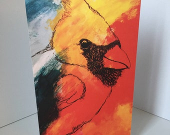 Cardinal Blank Greeting Card