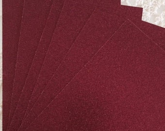 DESTASH Red Glitter Cardstock 5x5 for DIY Wedding or Christmas Invitations -Table Cards - Sparkly Holiday Cards - Scrapbooking - Kid Crafts