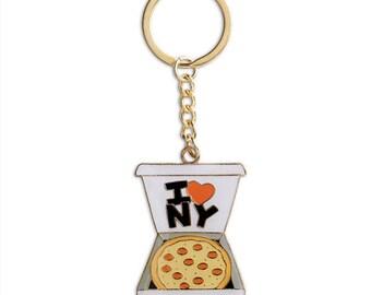 New York Pizza Keychain, NYC, Key Chain, Gift, Stocking Stuffer (Item Key33)