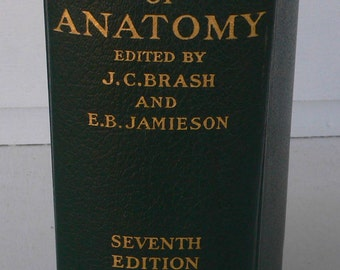 vintage book, Cunningham's Text book of Human Anatomy, 1937, free shipping, medical book, from Diz Has Neat Stuff
