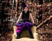 Black and Purple Cheshire Cat Fascinator Hat- Alice In Wonderland Hat- Cheshire Cat Costume- Purple Fascinator- Black Fascinator- Cheshire