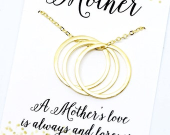 SALE Personalized Necklace for Mom, Mothers Necklace, Mother of the Bride Gift from Daughter, Initial Necklace Personalized Jewelry Gift