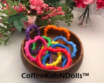 Silicone Baby Links // 3 inch // Open Teether // Silicone Teether // Teething Toy // Toy Making Parts // Handmade // Toy Connector