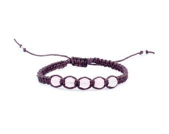 Rose quartz Bracelet, Gemstone Bracelet, Friendship Bracelet, Yoga Bracelet, Chakra Bracelet, Gift for Her, Anniversary Gift