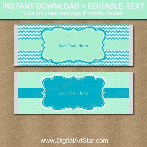 Baby Shower Chocolate Bar Wrappers, Printable Candy Wrapper Template ...