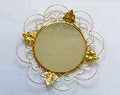 Mid-Century Decorative Metal Mirror