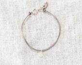 Cord Bracelet-Clear Stone...