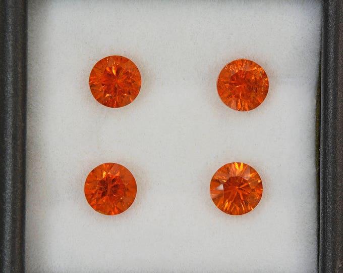 UPRISING SALE! Fiery Orange Concave Spessartine Garnet Gemstone Set from Nigeria 3.62 tcw.