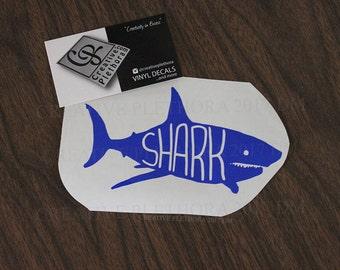 "Shark decal 5.5"" x 3"" custom laptop window car shark week decal sticker"