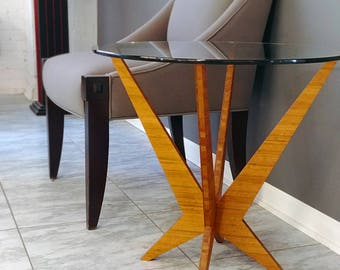 Collapsible Bamboo End Table