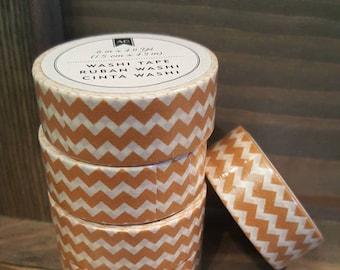 American Crafts Washi Tape - Orange Chevron