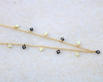Vermeil & Rhodium Zircon Shaker Necklaces