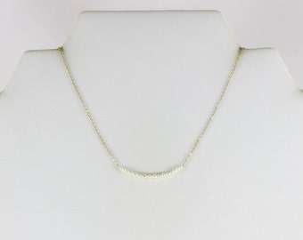 14K Yellow Gold Pearl Necklace 17 1/2 inch chain