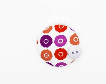 Geometric Fabric - Geometric Print - Fabric Brooch - Button Badge - Fabric - Sewing Gifts - Fabric Buttons - Buttons - Button Pins