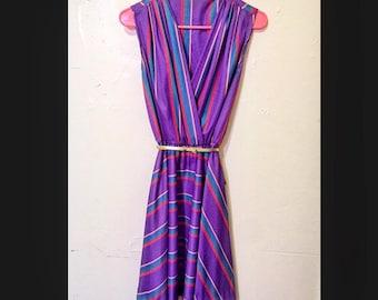 Vintage Chevron Rainbow Dress