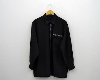 Lancel Shirt Vintage Lancel Casual Shirt Lancel Paris Vintage Long Sleeve Shirt Made in Japan Mens Size L