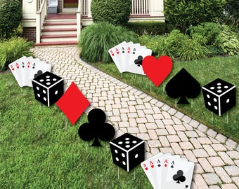 Casino party etsy for Yard statues las vegas