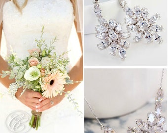 Bridal Necklace & Earring Set   Weeding Necklace Set   Bridesmaid Sets   Bridal Jewelry   Bridesmaid Jewelry   Crystal Necklace