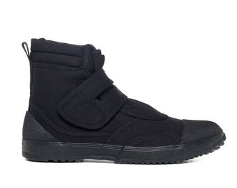 Fugu Ka-Ni cool japanese boots VEGAN black UNISEX