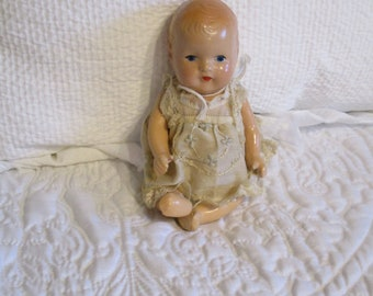 Vintage Composition Baby Doll Unmarked All Original