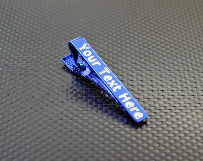 Blue Tie Bar, Blue Tie Clip, Blue Wedding, Groomsmen Gift, Personalized Tie Bar, Custom Tie Bar, Tie clip, Blue Gift,Custom Tie Clip,Tie Bar