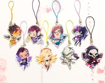 OVERWATCH 1.5inch Charms Clear Acrylic