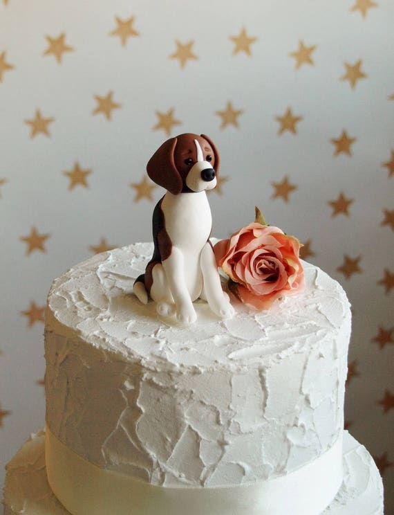 etsy wedding cake topper dog beagle cake topper wedding cake topper 14051
