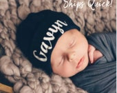 Baby Boy Personalized Newborn Hat, Hospital Hat, Baby Boy Newborn Hat, Personalized Baby Girl Hat, Newborn hat with Name, Baby Hat,Pink Hat