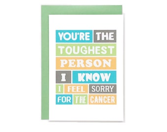 Cancer Thinking Of You Card | Uplifting | Encouragement | Empathy | Cancer Support | Cancer Humor | Funny | Blank | SE0071A6