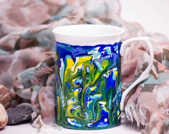 Artistic Hand Painted Mug - Under water