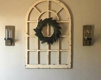 Handmade, Wood, Large Vintage Inspired Window Frame/ Arch