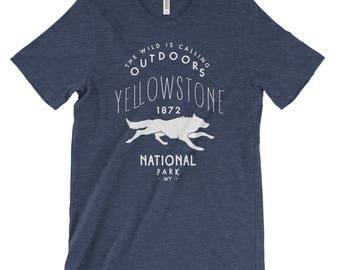 Yellowstone National Park Adventure Unisex Bella Canvas Tshirt