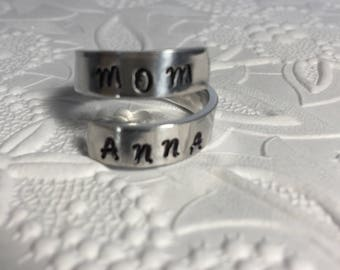 Customized wrap ring, mom jewelry, personalized ring, customizable jewellery