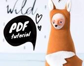 Cloth doll pattern, sculpting fox tutorial, sewing doll pdf, DIY fox toy, doll making instructions, DIY fabric doll ebook, PDF doll pattern
