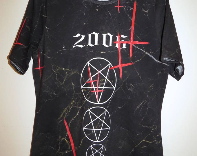 Upside down red cross ////Black Marble T