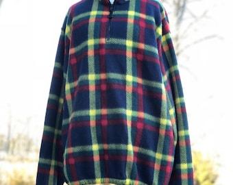 vintage fleece quarter zip | mens xl