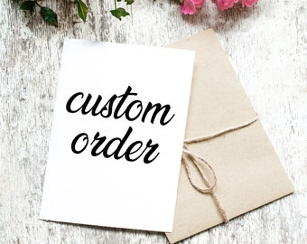 Custom Invitation / Custom How-To Card / Create Your Own / Digital File or Printed Invitations / Design your Own Invites