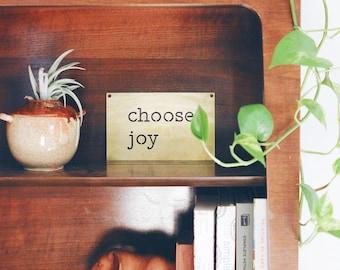Choose Joy Metal Wall Art | Choose Joy Wall Art | Mantra Wall Art | Metal Wall Hanging | Metal Wall Art | Choose Joy Sign | Farmhouse Decor