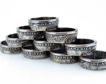 Presidential Dollar Coin Ring, Unique Ring, Coin Jewelry, Mens, United States, Band, Mans, President, America, Rings