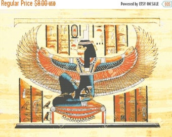 egyptian Cross Stitch Pattern Pdf isis pattern hieroglyphs pattern - 331 x 248 stitches - INSTANT Download - B1252