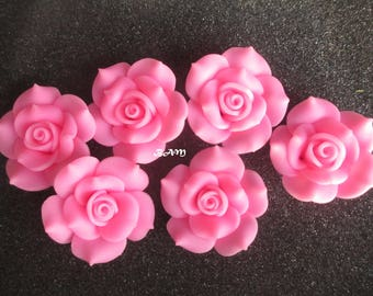 Cabochons rose flower not pierced 40 mm