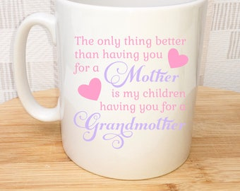 Personalised Mum Cup, Mother Cup, Mum Gift, Grandmother Cup, UK