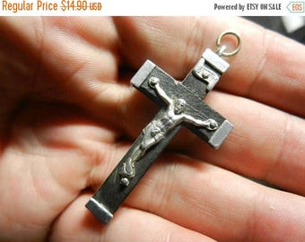Summer Sale Vintage Antique Catholic Rosary Cross Pendant